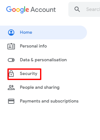 security setting in gmail
