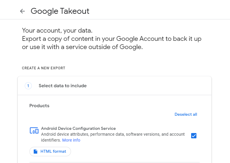 google takeout window
