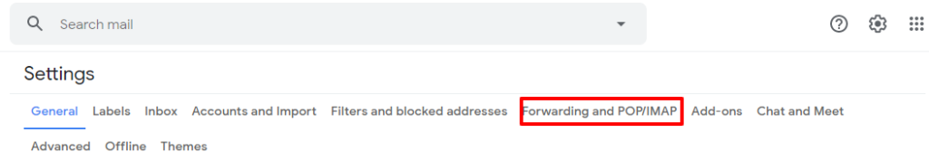 forwarding and POP/IMAP setting in gmail