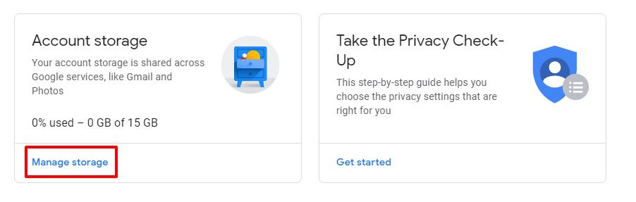 manage gmail storage space