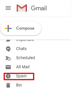 spam box label