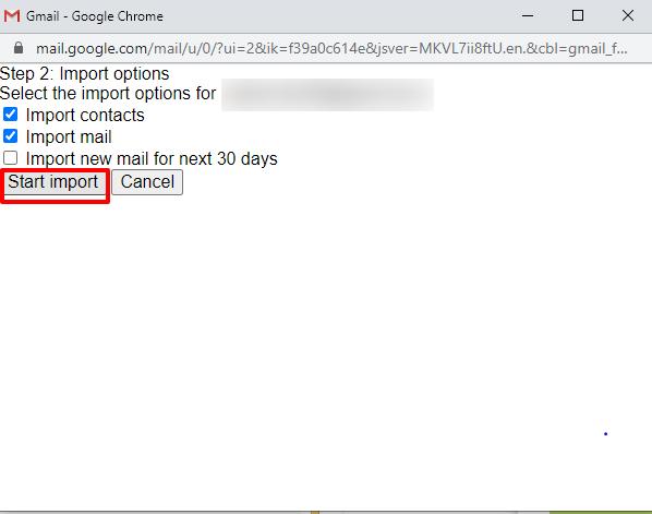 start import screen