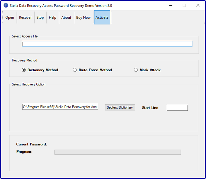 microsoft access password recovery