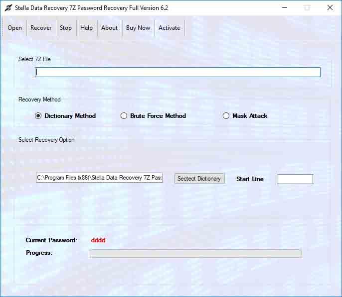 SDR 7z Password unlocker software online app to unlock and