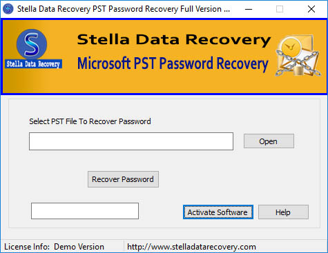 Get Outlook PST file password recovery tool